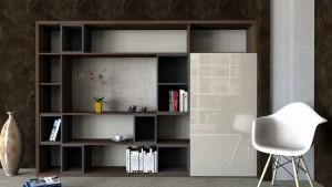 knižnica vyrobená na mieru posuvné dvere hettich